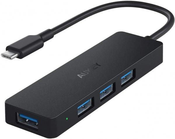 AUKEY Hub USB C 4 Porte USB 3.0 Adattatore USB C per MacBook PRO
