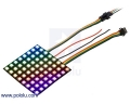 Addressable RGB 8x8-LED Flexible Panel, 5V, 10mm Grid (SK9822)