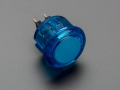 Arcade Button - 30mm Translucent Blue