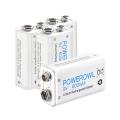 Batterie Ricaricabili Powerowl 9v Li-ion 600 mah Confezione da 4