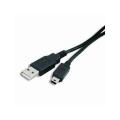 Cavo USB 2.0 A maschio / mini B 5 pin maschio 1,8 m Nero
