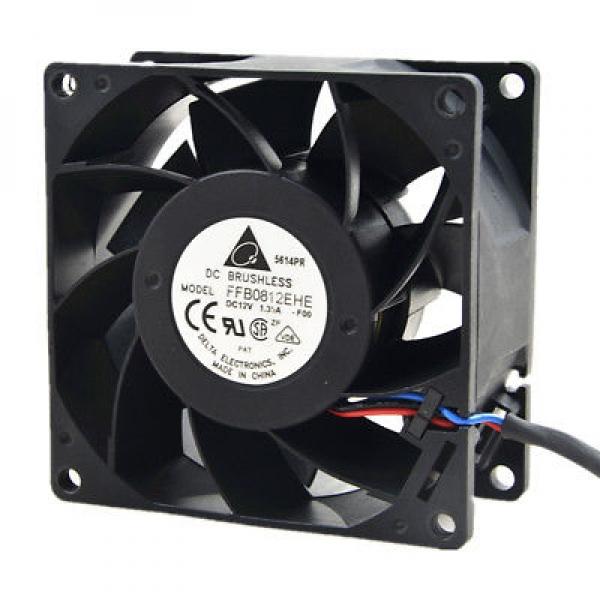 FAN AXIAL 80X80X38MM 12VDC W/ENC