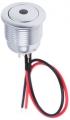 Interruttore a pulsante SPST-NA ITW 57M 811B luminoso, Cromo, 20