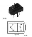 Interruttori ottici, riflettenti, uscita a fototransistor 12mm S
