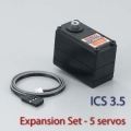 Kondo KRS-2552RHV ICS Red Version Servo - Set with 5 pcs