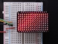 LED Charlieplexed Matrix - 9x16 LEDs - Red