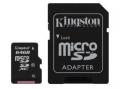 MICRO SDXC KINGSTON 128GB CL10 CON ADATTATORE SD E MICRO SD