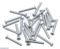 Machine Screw: M3, 20mm Length, Phillips (25-pack)
