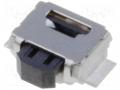Microcommutatore TACT; SPST-NO; Posizioni:2; 0,05A/12VDC; SM