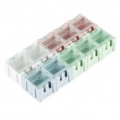 Modular Plastic Storage Box - Small (10 pack)