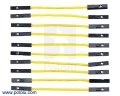 Premium Jumper Wire 10-Pack F-F 2 (inches) Yellow