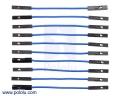 Premium Jumper Wire 10-Pack F-F 2 (inches) Blue