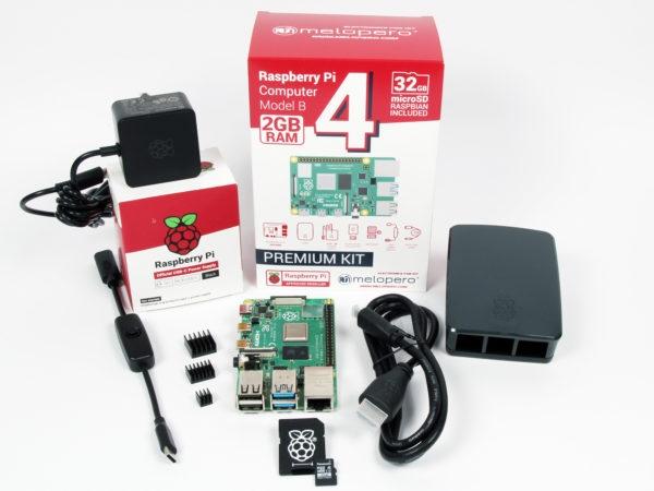 Raspberry Pi4 2GB - OFFICIAL PREMIUM KIT - MicroSD 32GB
