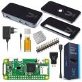 Raspberry Pi Zero WH Basic Kit con cover nera premium, edizione