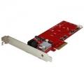 Scheda PCI Express Controller 2x M.2 NGFF SSD RAID con 2 Porte S