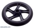 Scooter/Skate Wheel 200×30mm - Black