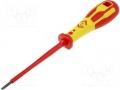 Screwdriver; slot, insulated; Blade:3,0x0,5mm; Overall len:185mm