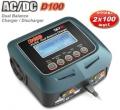 SkyRC -  Caricabatterie D100 2x100W 12/220V