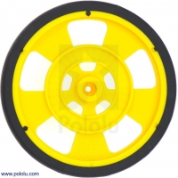 Solarbotics SW-Y YELLOW Servo Wheel with Encoder Stripes, Silico