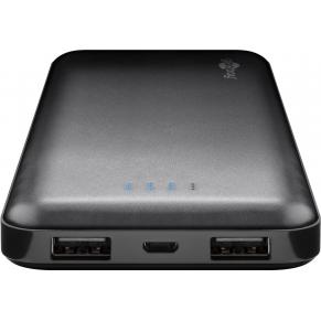 Power Bank Slim 10000 mAh 2x USB Nero