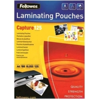 FELLOWES CAPTURE125 POUCHES LUCIDE A3 125 MY COL. TRASPARENTE CO