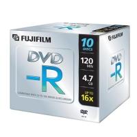 FUJIFILM 47586 CONFEZIONE 10 DVD-R JEWEL CASE 4.7GB 16X