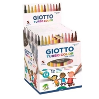 GIOTTO TURBO COLOR SKIN TONES ESPOSITORE 12 PENNARELLI PUNTA FIN