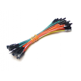 1 pin dual-female jumper wire 100mm 50pcs pack