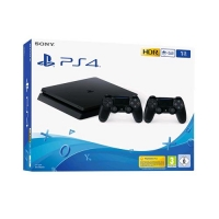 SONY PS4 CONSOLE 1TB F CHASSIS SLIM + 2 DUALSHOCK V2