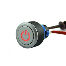 Latching Pushbutton Switch With Power Logo