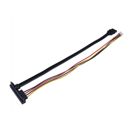 4-Pin Power & SATA Data to SATA 22Pin(7+15Pin) Cable for ODYSSEY