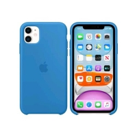 APPLE iPHONE 11 SILICONE CASE SUFR BLUE