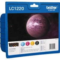BROTHER MULTIPACK LC-1220VALBP CARTUCCIA DINCHIOSTRO (NERO-YCM)
