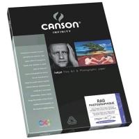 CANSON INFINITY RAG PHOTOGRAPHIQUE CONFEZIONE 25 FOGLI CARTA FOT