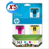 HP 363 3 CARTUCCE INK-JET TRICROMIA