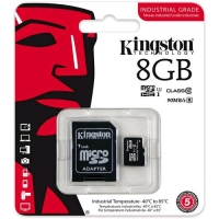 KINGSTON 8GB MICROSDHC UHS-I CLASS 10 CARD + ADAPTER
