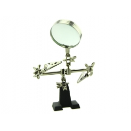 Third-hand Tool With Magnifying Glass