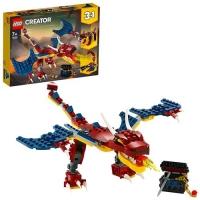 LEGO CREATOR 3 IN 1 DRAGO DEL FUOCO TIGRE DAI DENTI E SCORPIONE