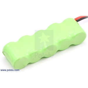 Rechargeable NiMH Battery Pack: 6.0 V, 150 mAh, 5x1 1/3-AAA Cell