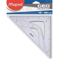 MAPED SQUADRA IN PLASTICA IMPUGNATURA ERGONOMICA 45° 26 CM