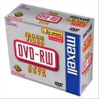 MAXELL DVD-RW 4.7GB 2X JEWEL CASE 5PZ