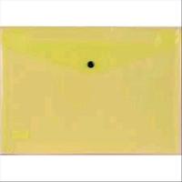 METODO BUSTE CON BOTTONE IN PP CM 23.7X33.5 A4 COLORE GIALLO CON
