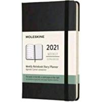 MOLESKINE AGENDA SETTIMANALE 12 MESI 2021 FORMATO POCKET 9X14 CM
