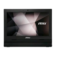 """MSI PRO 16T 7M-087XEU ALL IN ONE 15.6"""" TOUCH SCREEN CELERON 3865"""
