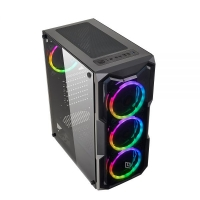 CASE MID-TOWER NO PSU SMASH S2 BLK 1USB3 2USB2 VETRO TEMPERATO R