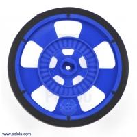 Solarbotics GMPW-LB BLUE Wheel with Encoder Stripes, Silicone Ti