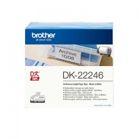 ETICHETTE BROTHER DK22246 IN CARTA 103,6MM X 30,48M NERO SU BIAN