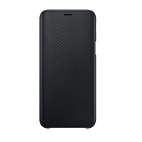 "SAMSUNG GALAXY J6 5.6"" WALLET COVER BLACK"