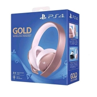 SONY PS4 GOLD WIRELESS HEADSET VIRTUAL SURROUND 7.1 ROSE GOLD