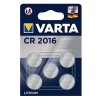 VARTA CR 2016 BATTERIA A BOTTONE LITIO 3V BLISTER 5 PEZZI